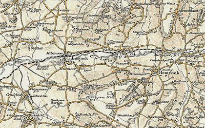 Old map of Westown in 1898-1900