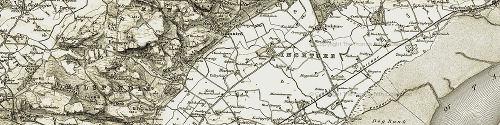 Old map of Westown in 1907-1908