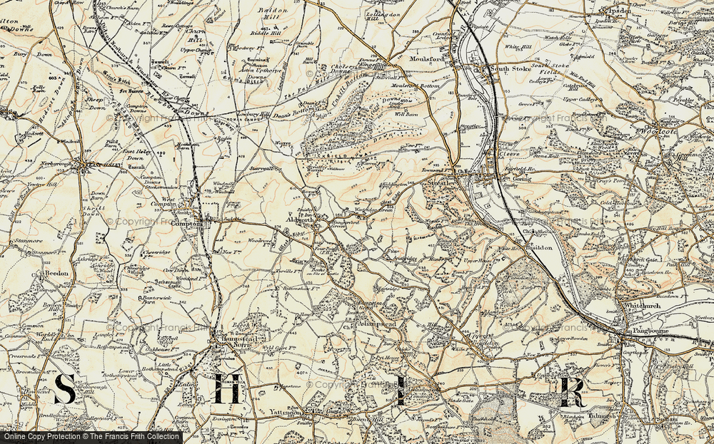 Old Map of Westridge Green, 1897-1900 in 1897-1900