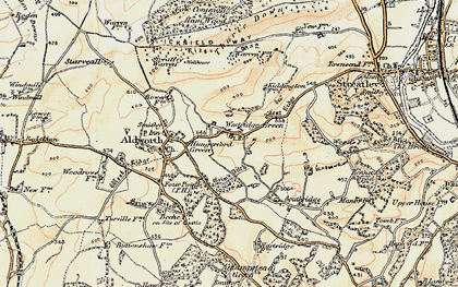 Old map of Westridge Green in 1897-1900