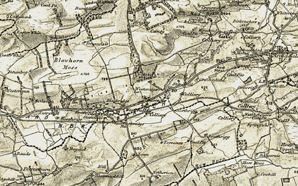 Old map of Westrigg in 1904