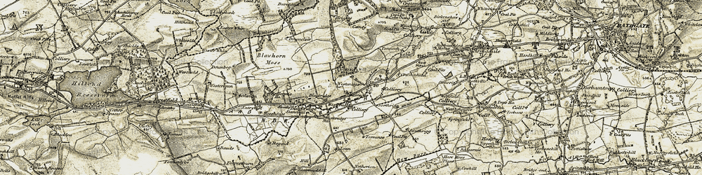 Old map of Westcraigs in 1904