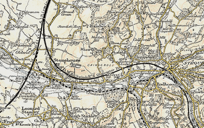 Old map of Westrip in 1898-1900