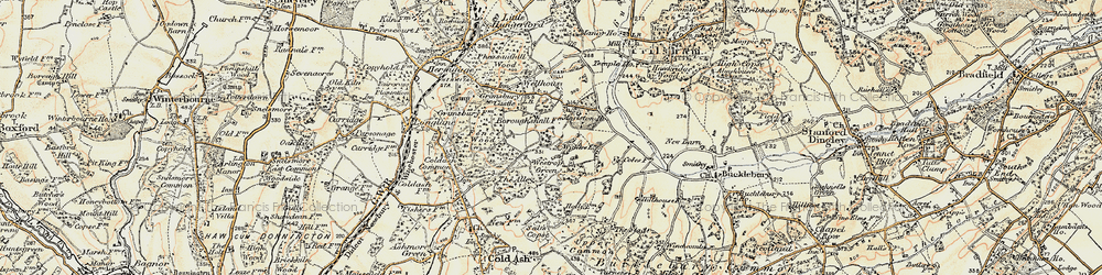 Old map of Westrop Green in 1897-1900