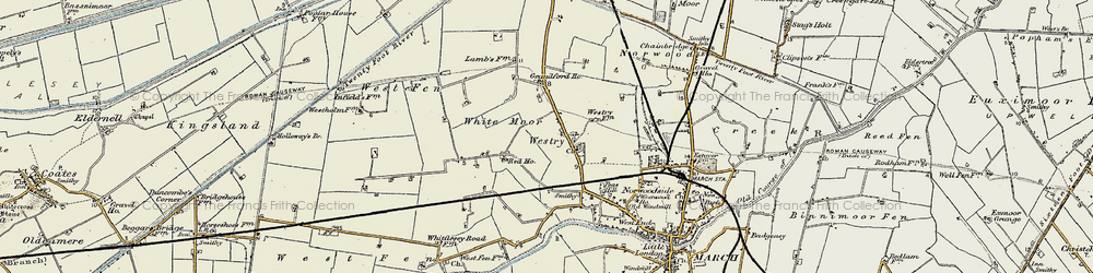 Old map of White Moor in 1901-1902