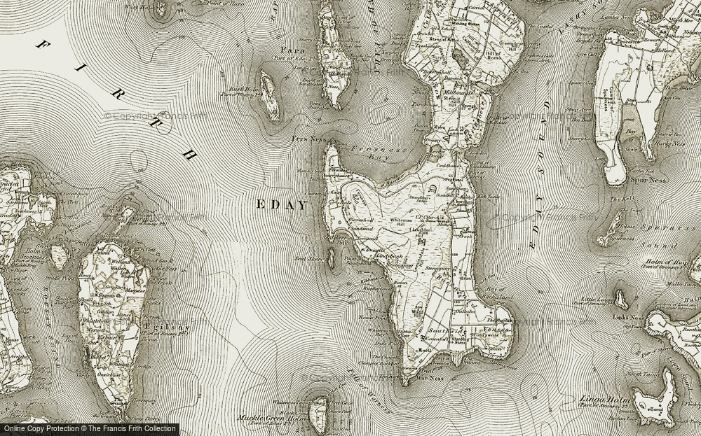 Old Map of Westside, 1912 in 1912