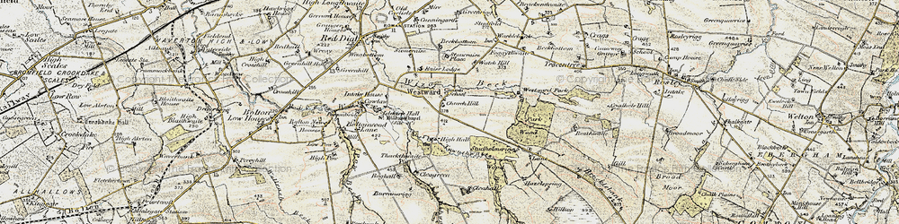 Old map of Westward Park in 1901-1904
