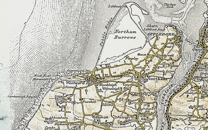 Old map of Westward Ho! in 1900