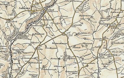 Old map of Westweek in 1900