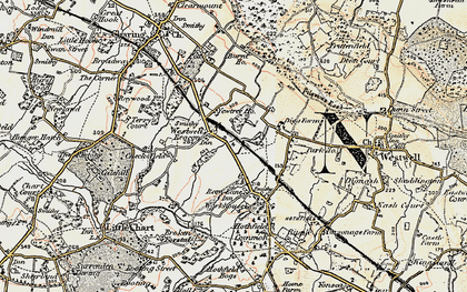 Old map of Westwell Leacon in 1897-1898