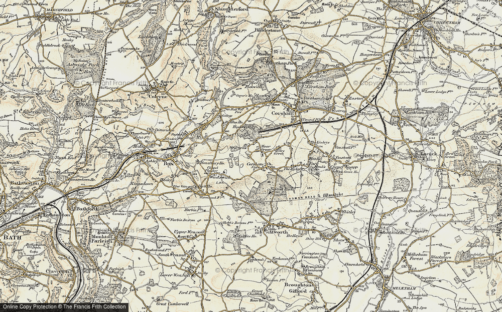 Old Map of Westwells, 1899 in 1899
