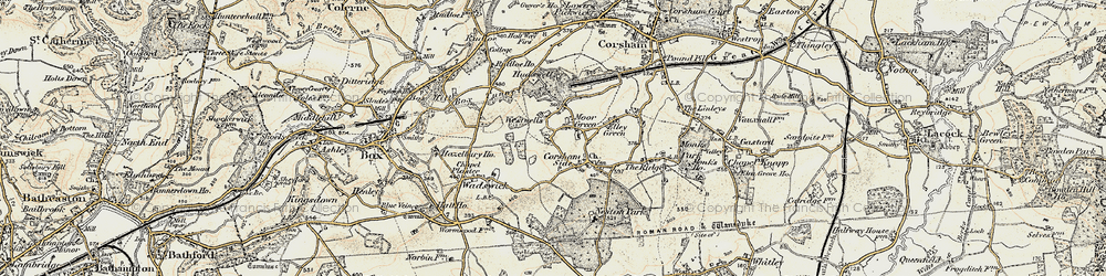 Old map of Westwells in 1899