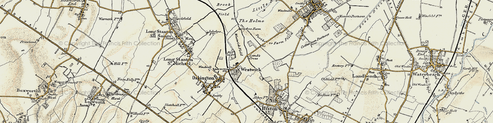 Old map of Westwick in 1899-1901