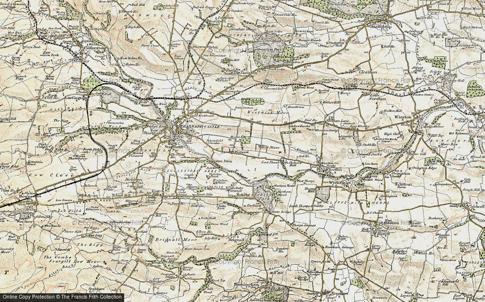 Old Map of Westwick, 1903-1904 in 1903-1904