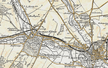 Old map of Westwood in 1897-1898