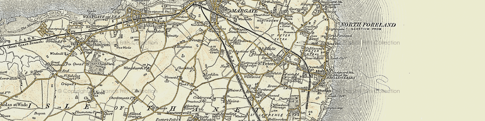 Old map of Westwood in 1898-1899