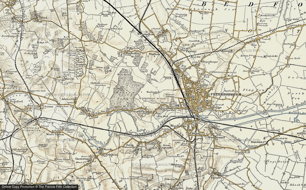 Old Map of Westwood, 1901-1902 in 1901-1902