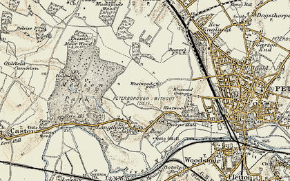Old map of Westwood in 1901-1902