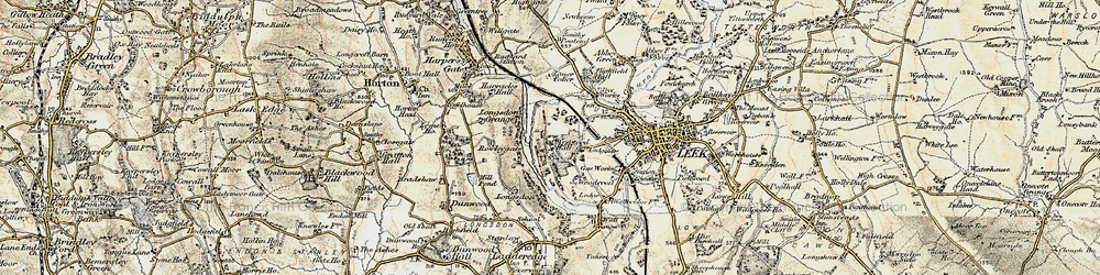 Old map of Westwood in 1902-1903