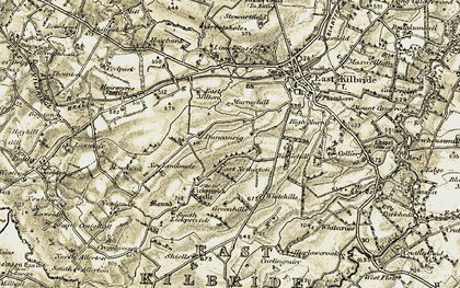 Old map of Westwood in 1904-1905
