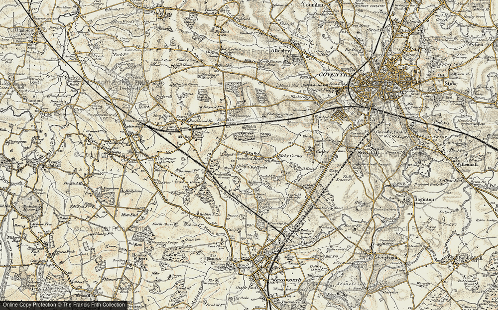 Old Map of Westwood Heath, 1901-1902 in 1901-1902
