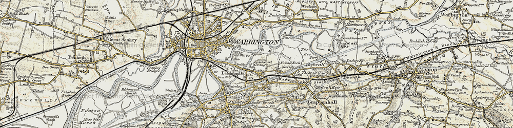 Old map of Westy in 1903