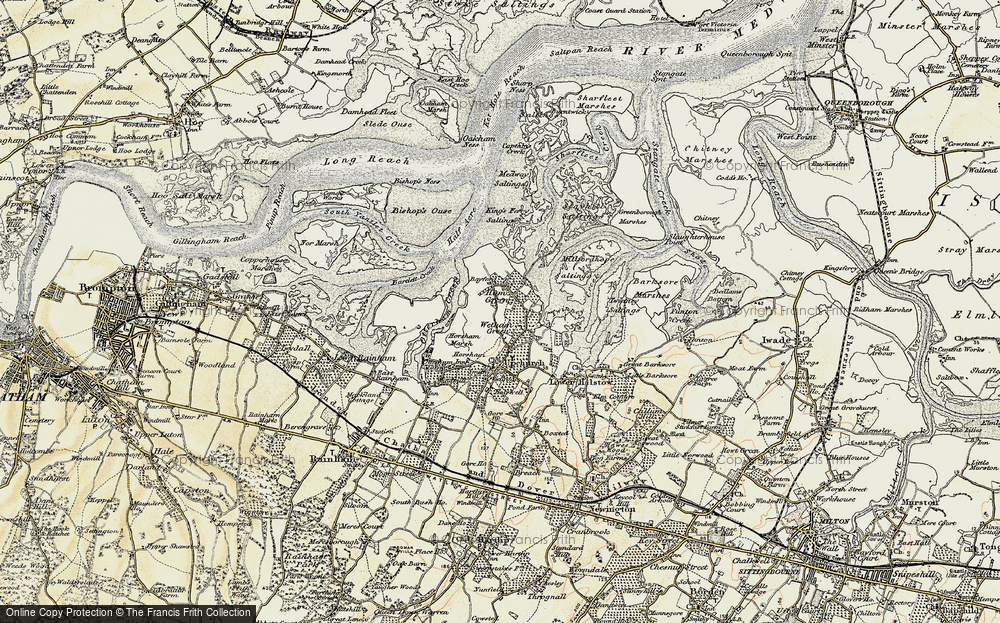 Old Map of Wetham Green, 1897-1898 in 1897-1898