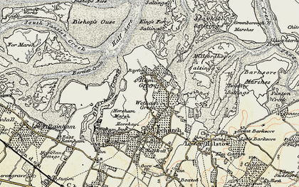 Old map of Wetham Green in 1897-1898