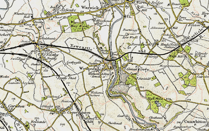 Old map of Wetheral in 1901-1904