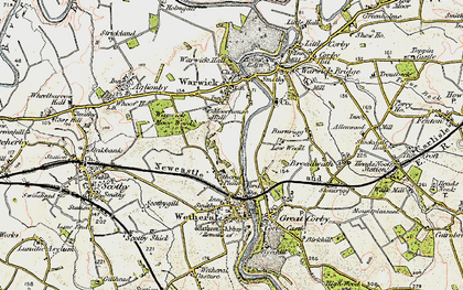 Old map of Wetheral Plain in 1901-1904