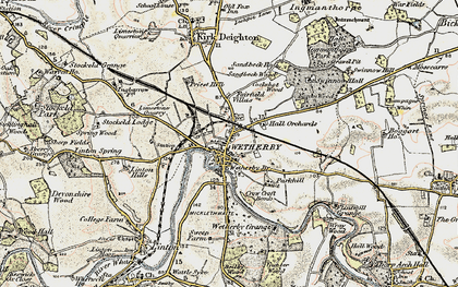 Old map of Wetherby in 1903-1904