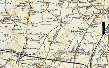 Old map of Ashfield Haugh in 1899-1901
