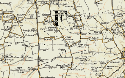 Old map of Wetherup Street in 1898-1901
