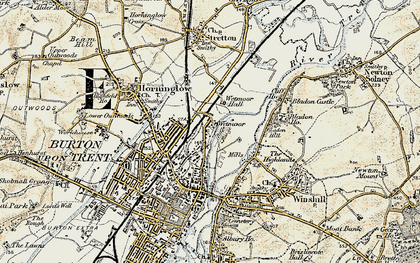 Old map of Wetmore in 1902