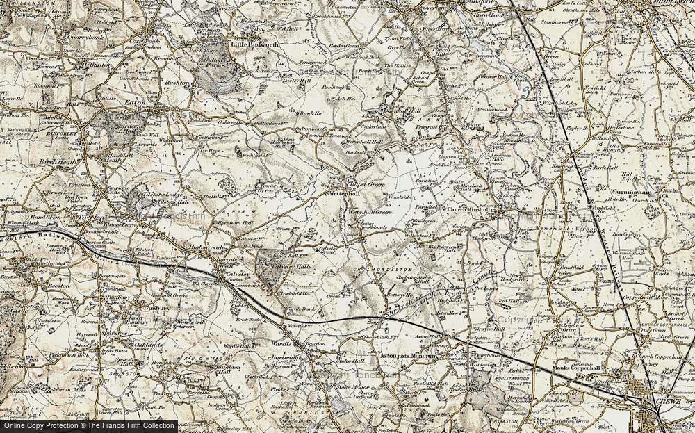 Old Map of Wettenhall Green, 1902-1903 in 1902-1903