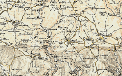Old map of Wetton Hill in 1902-1903