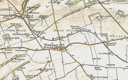 Old map of Wetwang Grange in 1903-1904