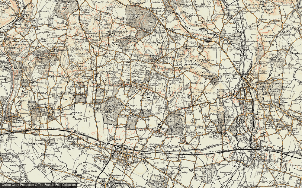 Old Map of Wexham Street, 1897-1909 in 1897-1909