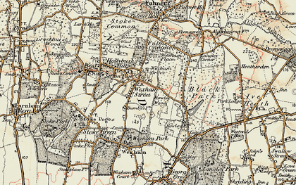 Old map of Wexham Street in 1897-1909