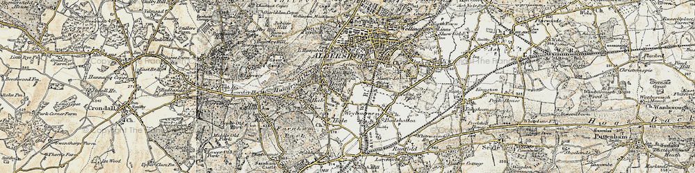 Old map of Weybourne in 1898-1909