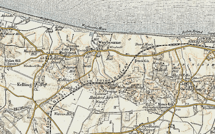 Old map of Weybourne Hope in 1901-1902