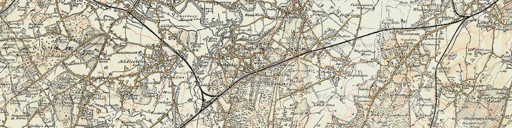 Old map of Weybridge in 1897-1909