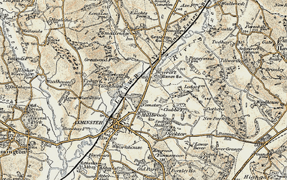 Old map of Weycroft in 1898-1899