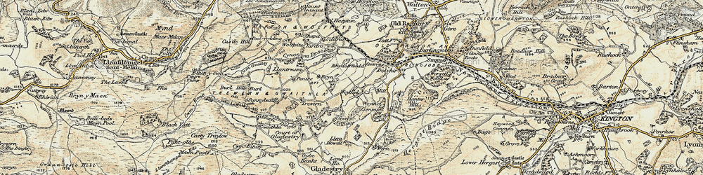 Old map of Weythel in 1900-1903
