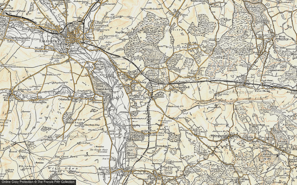 Old Map of Whaddon, 1897-1898 in 1897-1898