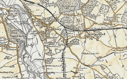 Old map of Whaddon in 1897-1898