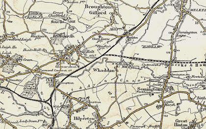 Old map of Whaddon in 1898-1899