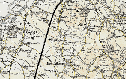 Old map of Whaddon in 1898-1900