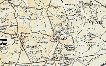 Old map of Whaddon Chase in 1898-1901