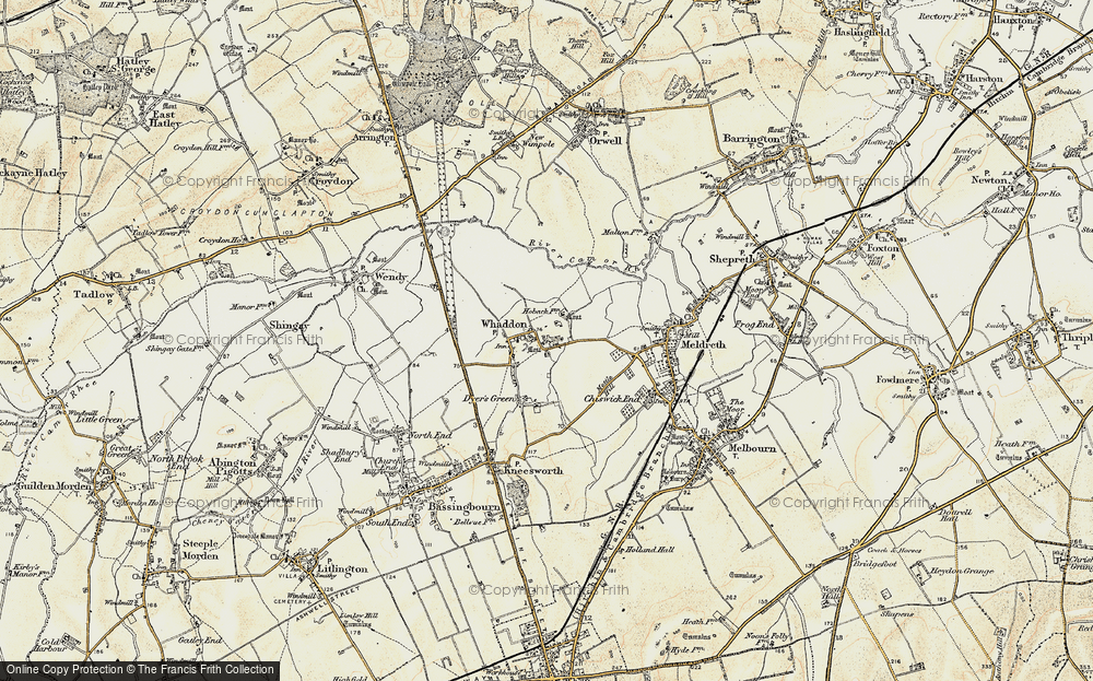 Old Map of Whaddon, 1899-1901 in 1899-1901